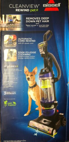 Bissell 2490 CleanView Rewind Pet Vacuum Cleaner Edge-to-Edg