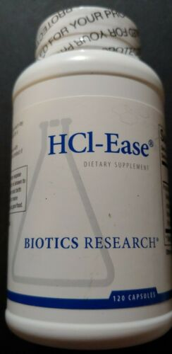 Biotics Research HCL HCl Ease 120 Capsules Intestine Supt Exp 01.31.2021