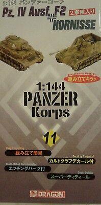 - Dragon Models 1/144 scale kit 14008, Pz. lV  Ausf F2 &  Hornisse.