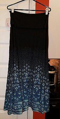 NEW Lularoe S maxi ombre black teal blue skirt dress RARE UNICORN