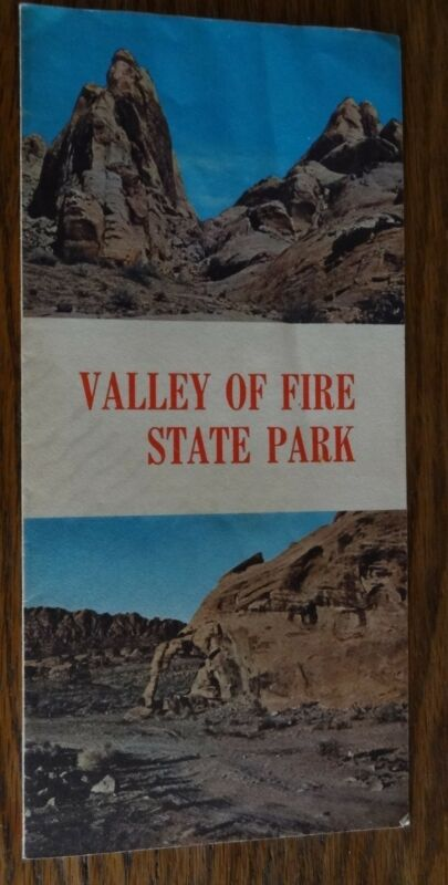 Vintage VALLEY OF FIRE STATE PARK Nevada Map Brochure Booklet 60s