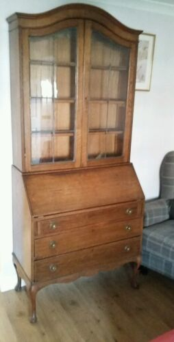 Early  20th Century Mahogany Bookcase Bureau