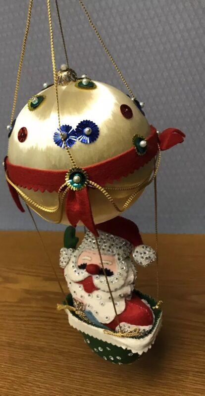 "Bucilla Kit #2485 Santa in Balloon  ~ 3D Felt & Ball 19"" Mobile Ornament"