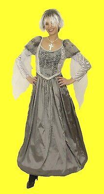 Barock VAMPIR HEXE Kleid Damen Kostüm Halloween Gothic inkl Reifrock Halloween
