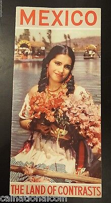 """Mexico """"The Land of Contrasts"""" Vintage Tourist Brochure"""