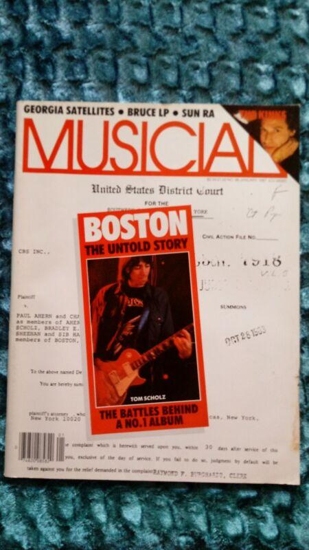 Boston Musician Magazine 1986 Kinks Ga Satellites Sun Ra Lee Ritenour Wld Party