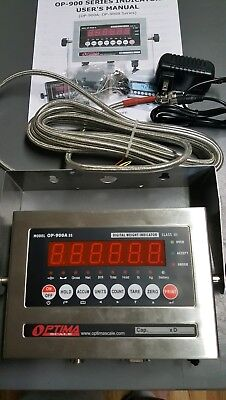 New Optima Op-900a-11 Ss Scale Digital Weighing Indicator Surge Protector