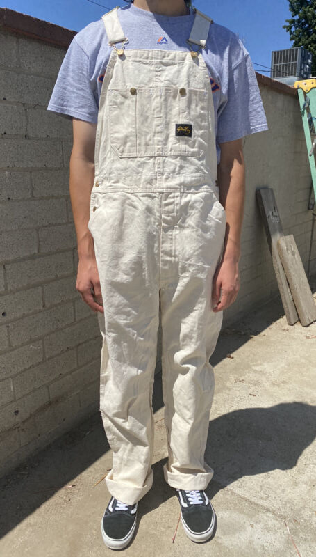 Vintage Stan Ray Natural Overalls 34x34 Made In Usa