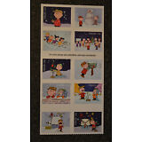2015USA #5021-5030 Forever Charlie Brown Christmas - Booklet Block of 10 peanuts