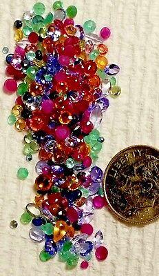 8-12 small Natural Sapphire Ruby Emerald Tanzanite loose gemstones Mix 1+ct lot