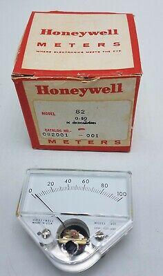 Vintage Honeywell Model 82t 0-1 Ma Microampres Micro Amperes Meter In Box