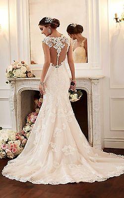 New white / ivory Mermaid wedding dress bridal gown custom size6 8 10 12 14 16+