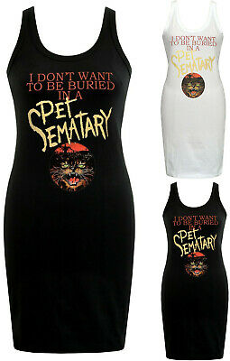 Petit Film Halloween (Womens HORROR Dress Pet Sematary 1980's Vintage Cult Class Film Halloween)