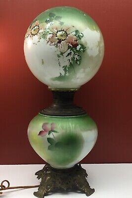 Antique Lamp Gone with the wind  Shows Wear Works