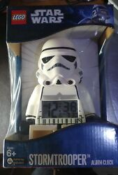 2 X Lego Star Wars Alarm Clock Digital Display. Darth Vader + Storm Trooper