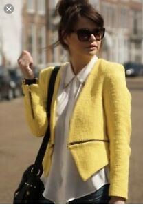 Zara tweed campaign structured blazer jacket xs 6 Docklands Melbourne City Preview