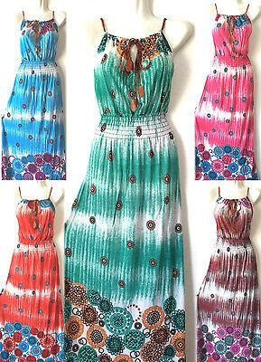 Hawaiian Party Dress (Women Summer Sleeveless Evening hawaiian Party  Beach Long Maxi Sundress Dress)