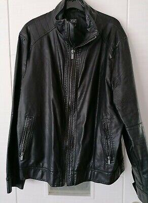 Mens Black Leather Jacket XL - Excellent Condition