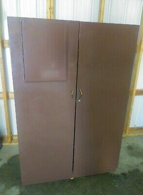 Vintage Industrial Cabinet Mobile Closet Shelves Shed Storage Enid Ok Pickup