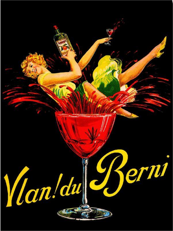 Vlan! du Berni Wine Beer Liqueur Vintage Advertisement Art Poster Print