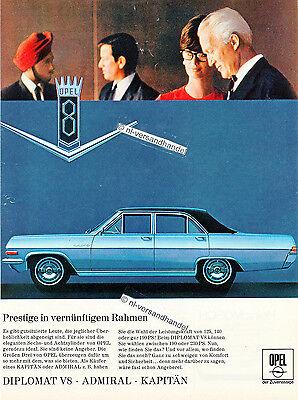 Opel-Diplomat-1967-Reklame-Werbung-genuine Advertising-nl-Versandhandel