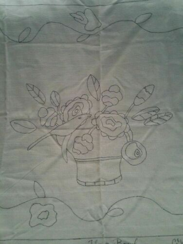 FLOWER BOWL rug hooking pattern Monk