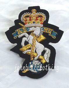 REME Wire Embroidered Bullion Blazer Badge - British Army  Military