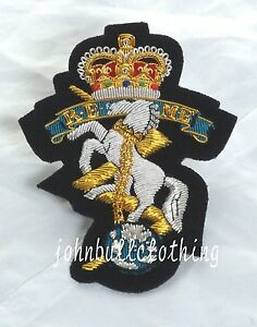REME Wire Embroidered Bullion Blazer Badge - British Army  Military