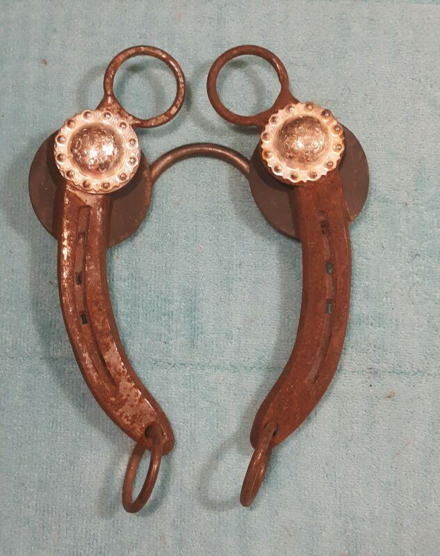 Horse Bit marked AEW, vintage, professionally made from horseshoe, neat!