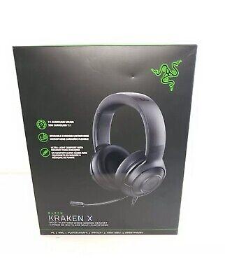 NEW Razer Kraken X Gaming Headset - 7.1 Surround Sound Ultra-light Classic Black