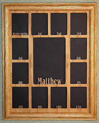 School Years Picture Frame with Name Graduation Collage K-12 and Matte (Graduation Collage)