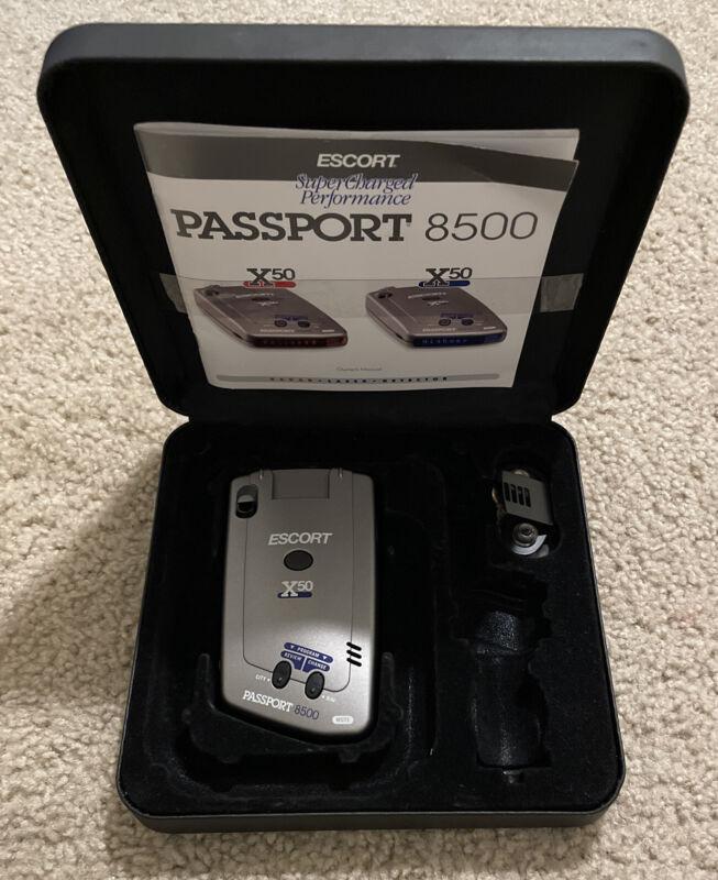 Escort Passport 8500 X50 Radar Detector W/ Mount NICE READ