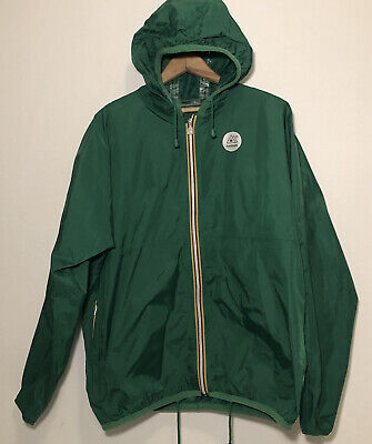 K-Way Lightweight Packable Windbreaker Mens Large L Green Hmbldt Jacket Rain