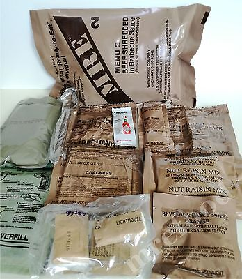 Original Lituanien armée Menu army MRE EPA MEAL FOOD Outdoor manger Field ration