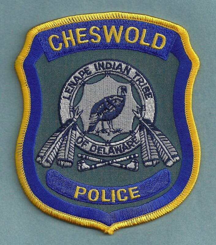 CHESWOLD LENAPE DELAWARE TRIBAL POLICE SHOULDER PATCH
