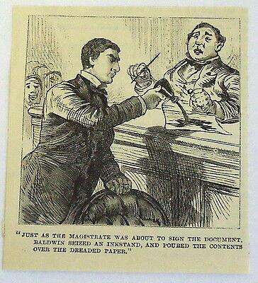 Baldwin Magazin (1885 Klein Magazin Gravierung ~ Baldwin Beschlagnahmt an Schreibtischgarnitur)