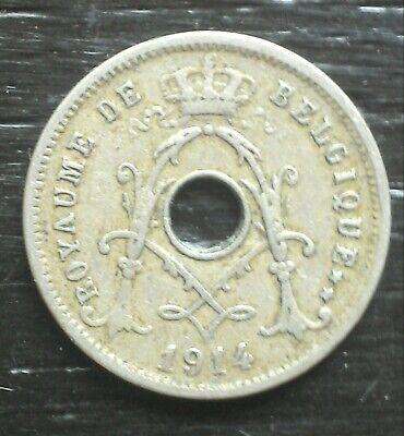 monnaie munt Belgique Belgie Albert I  5 cent 1914 légende française