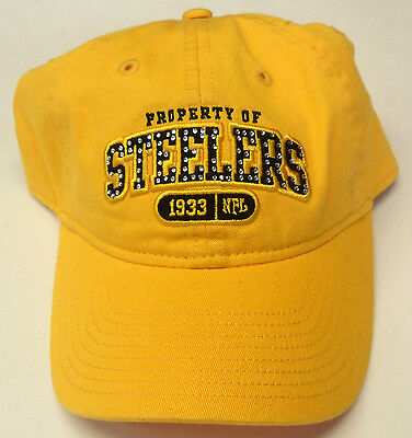 (NFL Pittsburgh Steelers Reebok Cap Hat Buckle-Back OSFA NEW!)