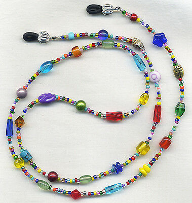 UNIQUE~ARTSY~COLORFUL Eyeglass~Glasses Holder Necklace Leash Chain *CUSTOMIZED!*