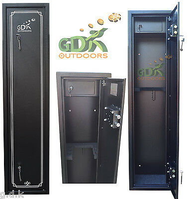 GDK X-LARGE 6 GUN CABINET, 6 SCOPED RIFLES, SHOTGUN & INTERNAL AMMO SAFE, Z6GA