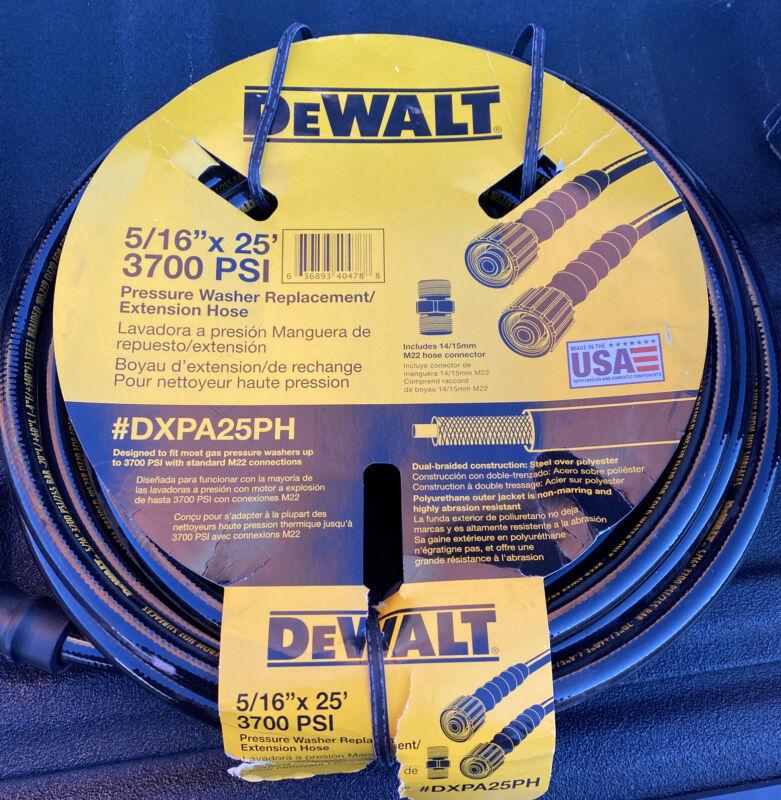 "Dewalt Pressure Washer Replacement Extension Hose DXPA25PH -5/16"" x 25ft 3700psi"