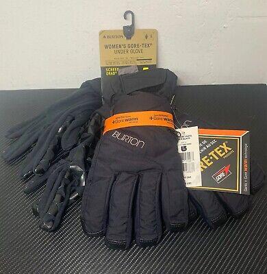Burton Woman's GORE-TEX Under Glove + Gore Warm Technology, Black Small - NWT! Gore Tex Under Glove