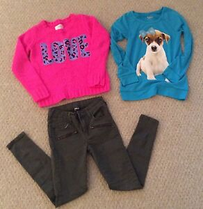 Lot Of Three 2 Sweaters 1 Pants  Girls Size  10 (8-9 Yr Old) Cambridge Kitchener Area image 1