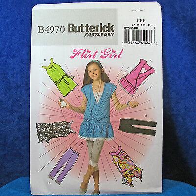 Butterick 4970 Girl's Flirt Girl Clothes Patterns 7-12