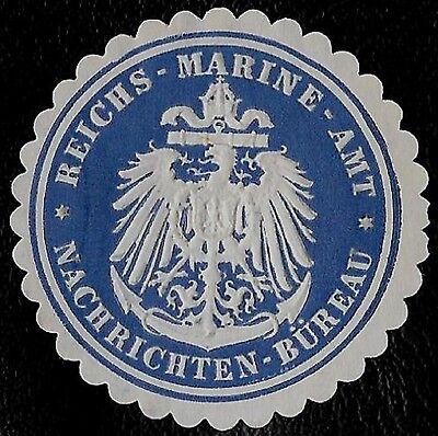 1871 GERMAN IMPERIAL NAVAL NEWS BUREAU EAGLE ANCHOR EMBOSSED SEAL CINDERELLA