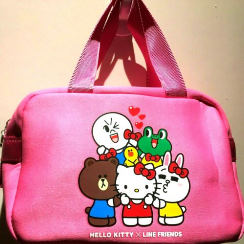 New Super Cute Pink Hello Kitty & Line Friends Thermal Insulated Lunch Bento Bag