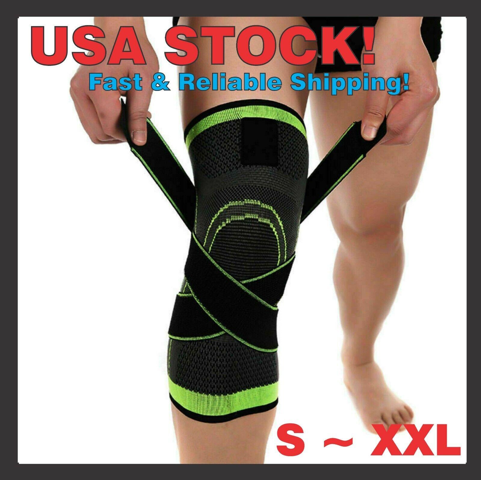 Knee Sleeve Compression Brace Patella Support Stabilizer Spo