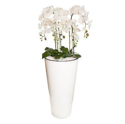 Gesteck XXL 130 cm hoch künstliche Orchideen Pflanze Dekoration Weiß / sehr Groß