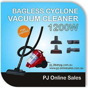 Bagless Cyclonic Cyclone Vacuum Cleaner HEPA Filter Red