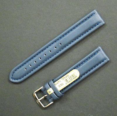 Gaucho Chrono Lederband - Kalbleder - 18 mm - Dunkelblau - mit Dornschliesse